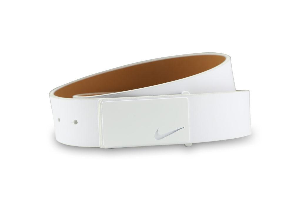 White nike belt product photography white background